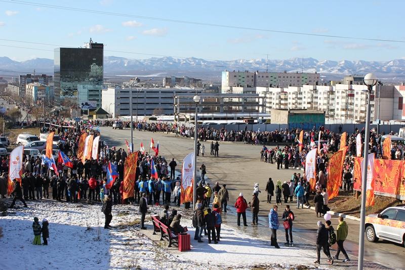 олимпийский огонь южно-сахалинск (1)